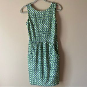 Jude Connally Geometric Low Back Dress NWOT